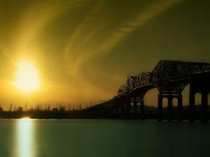 Bridge in the shade