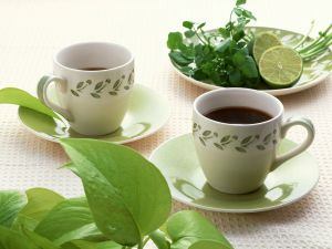Black tea with lime