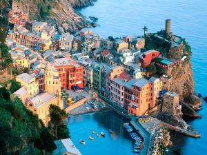 View of Liguria, Italy
