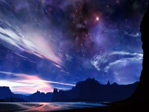 Sky with stars