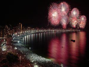 Fireworks on the coast