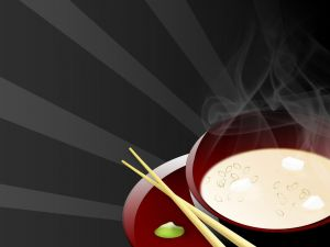 Drawing of Japanese soup