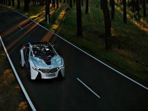 BMW i8, in the road