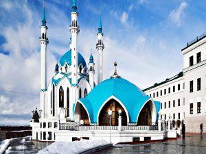 Qolşärif Mosque, in Kazan (Russia)