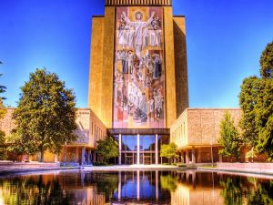 Theodore Hesburgh Library, in University of Notre Dame (Indiana)