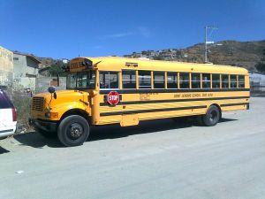 A schoolchildren truck
