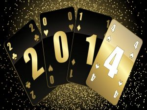 Cards forming the New Year 2014