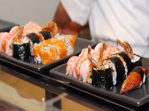 Dishes with Japanese food