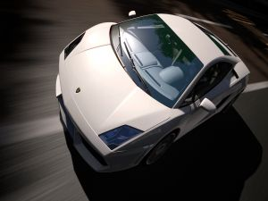 White Lamborghini