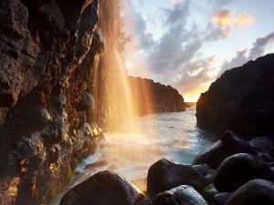 Waterfall between the rocks