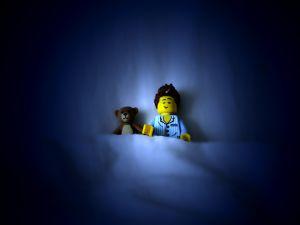 A sleepyhead Lego