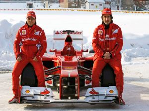 Fernando Alonso and Felipe Massa, Ferrari team