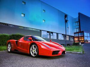 Ferrari parked