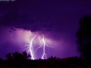 Lightnings in the sky