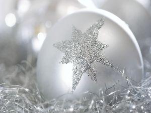 Star on a Christmas ball