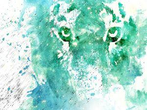 An artistic tiger