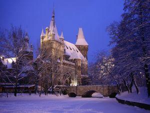 Vajdahunyad Castle, in City Park (Budapest, Hungary)