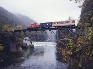 Train crossing a bridge