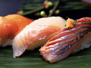 Fish and rice, Japanese food