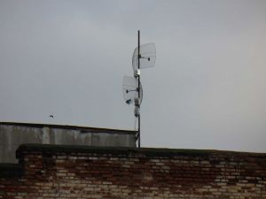 Antennas on the roof