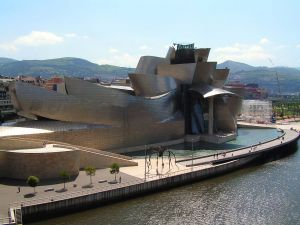 Guggenheim museum and the estuary of Bilbao