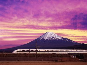 The Shinkansen and Mount Fuji