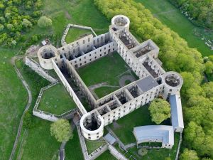Borgholm Castle viewed from the air
