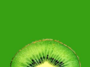 Thin slice of kiwifruit