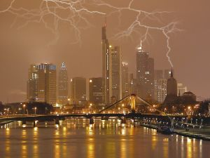 Electrical storm in the city