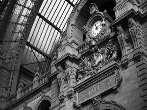 Clock in Antwerp central station