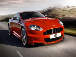 Aston Martin DBS on the road