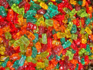 Gummy bears of different colors