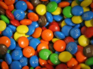 M&M's colored