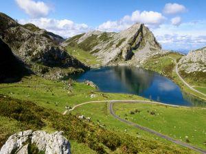 Enol lake in Asturias (Spain)