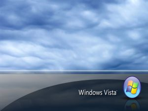 Windows Vista with clouds