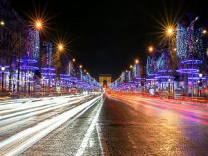 Lights at night in Paris