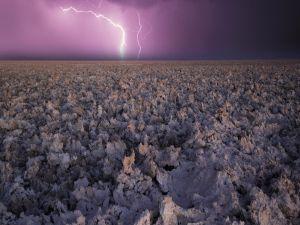 Rays in a purple sky