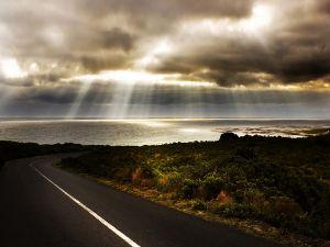 Road towards the sea