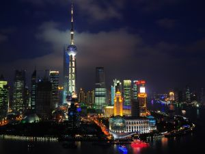 The night in Shanghai