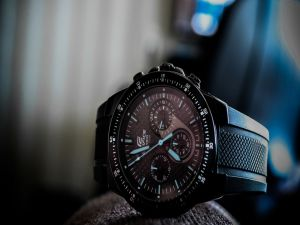 Black wristwatch