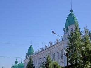 Building with green color domes