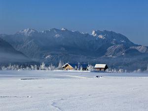 Farmhouse in winter