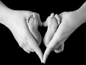 Hands and feets united by love