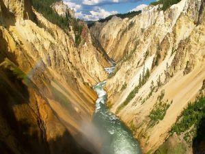 Narrow river between mountains