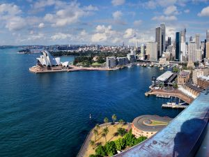View of the city of Sydney