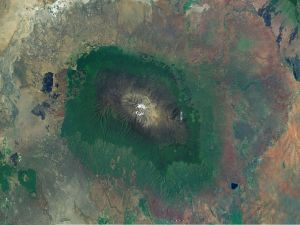 Mount Kilimanjaro, seen from space