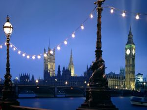 The City of London at dusk