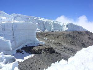 Blocks of ice on Mount Kilimanjaro