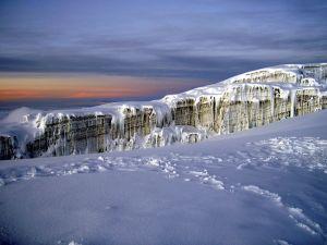 Icefield on Mount Kilimanjaro