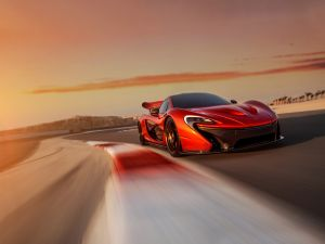 McLaren P1 on track